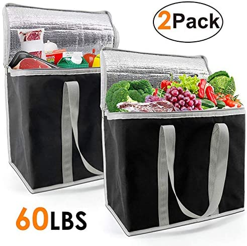 Insulated Grocery Bag Thermal Cooler Shopping Tote Transport X Large Reusable Collapsible product image