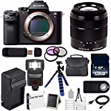 Sony Alpha a7S II a7S Mark II a7SII ILCE7SM2/B Mirrorless Digital Camera (International Model no Warranty) + Sony E-Mount SEL 18-55mm Zoom Lens (Black) + 49mm Filter Kit 6AVE Bundle 19