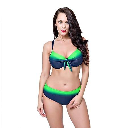 Bikini Conjunto de bikini de bloque de color para mujer Traje de ...