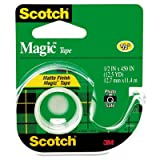 Magic Tape w/Refillable Dispenser, 1/2'' x 450'', Clear, Total 144 RL, Sold as 1 Carton