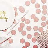 MOWO Glitter Paper Confetti Circle Dots for Table