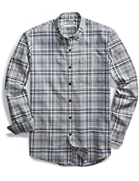 Men's Slim-Fit Long-Sleeve Plaid Oxford Shirt