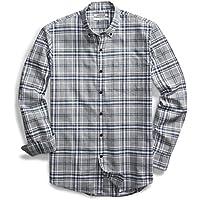 Goodthreads Men's Slim-Fit Long-Sleeve Tri-Color Plaid Brushed Oxford Shirt