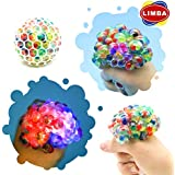 LIMBA LED Stress Ball - Glowing Anti-Stress Relief Ball - Squishy Light up Balls - Led Grape Stress Ball Glowing in The Dark (1 PC, 7 cm)