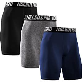 Neleus Men's Performance Compression Shorts
