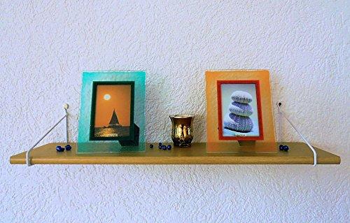 Trend-System Mensola da Parete Solido K, Colori e Dimensioni a Scelta, con Sistema Scala Alba Colori