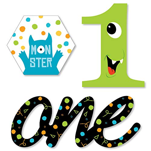 1st Birthday Monster Bash - DIY Shaped Little Monster First Birthday Party Cut-Outs - 24 Count]()