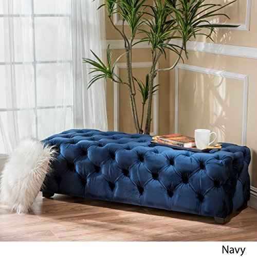 Great Deal Furniture 298425 Provence Navy Blue Tufted