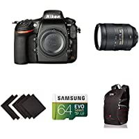 Nikon D810 FX-format Digital SLR Super Zoom Lens Kit w/ AmazonBasics Accessories