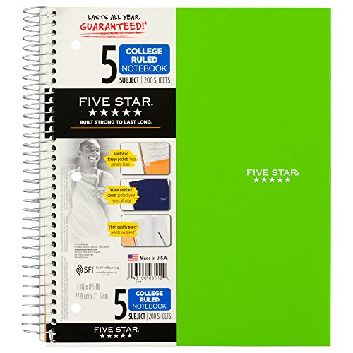 043100061120 - MEA06112 Trend Notebooks, Perforated, 5-Subject, 200/Sht, Assorted Colors carousel main 13