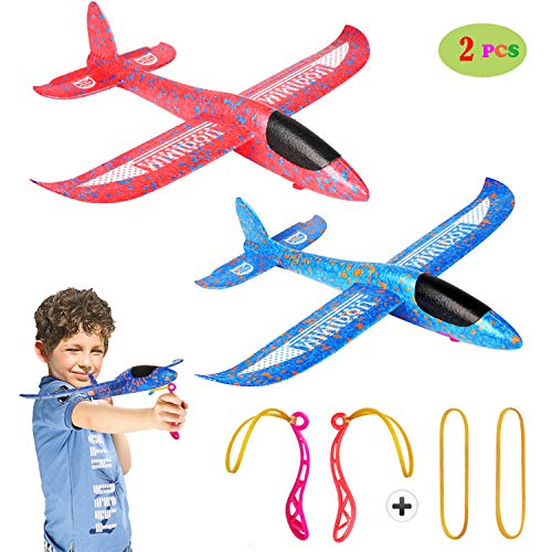 New AEROBATIC AIRPLANE 2 flight mode glider aircraft throwing foam air plane inertia toy model outdoor sports flying toy for kids as gift,by MIMIDOU -