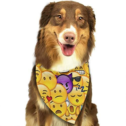 ANYWN Pet Dog Bandanas Fondo De Pantalla De Emoticon Triangle Bibs Scarfs Accessories for Puppies Cats Pets Animals Large Size]()