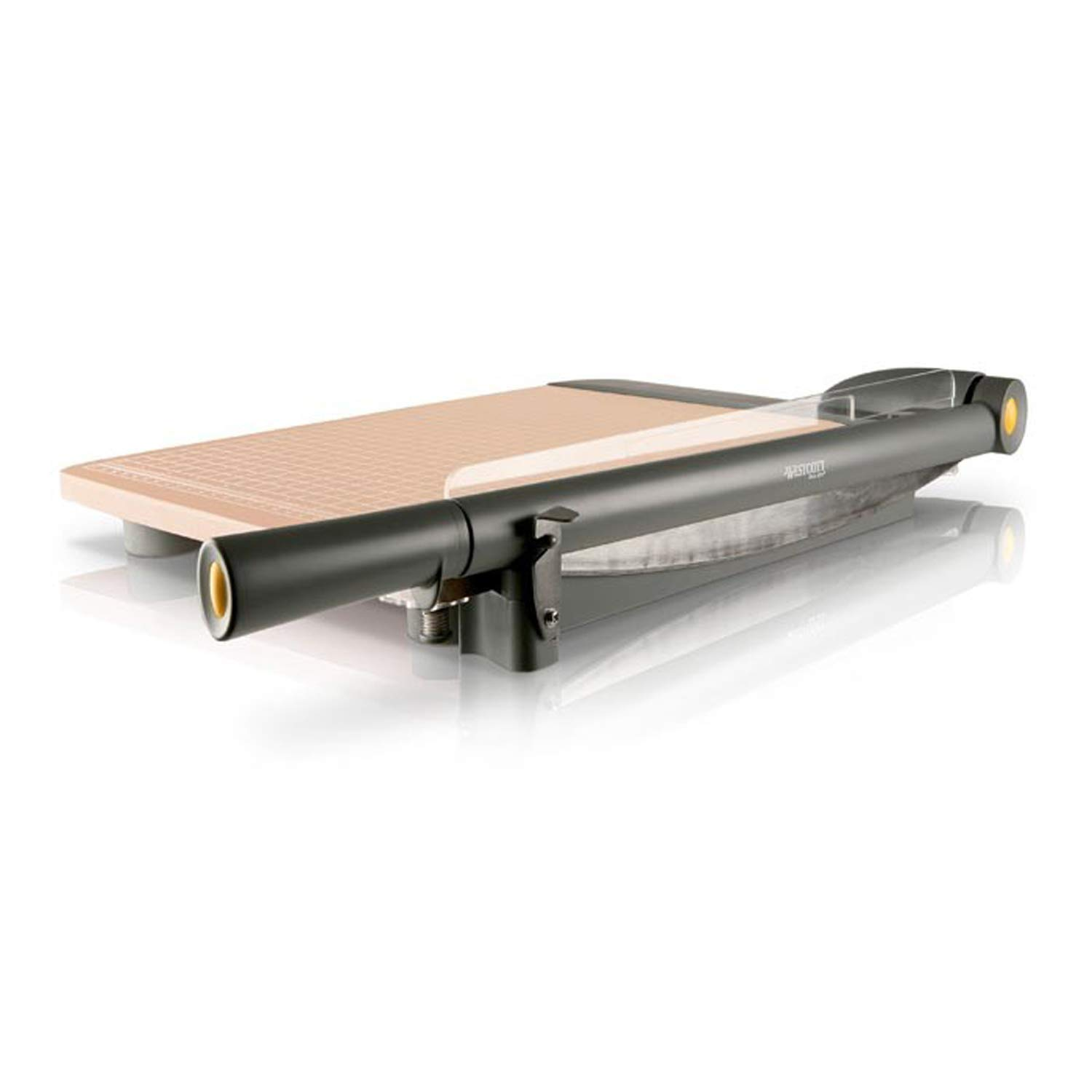 Westcott ACM15107 TrimAir Titanium Wood Guillotine Paper Trimmer with Anti-Microbial Protection 15 Renewed