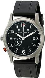 Momentum Men's 1M-SP60B1B Pathfinder III Analog Display Swiss Quartz Black Watch