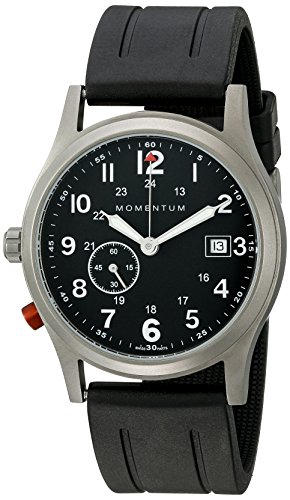 Momentum Men's 1M-SP60B1B Pathfinder III Analog Display Swiss Quartz Black Watch