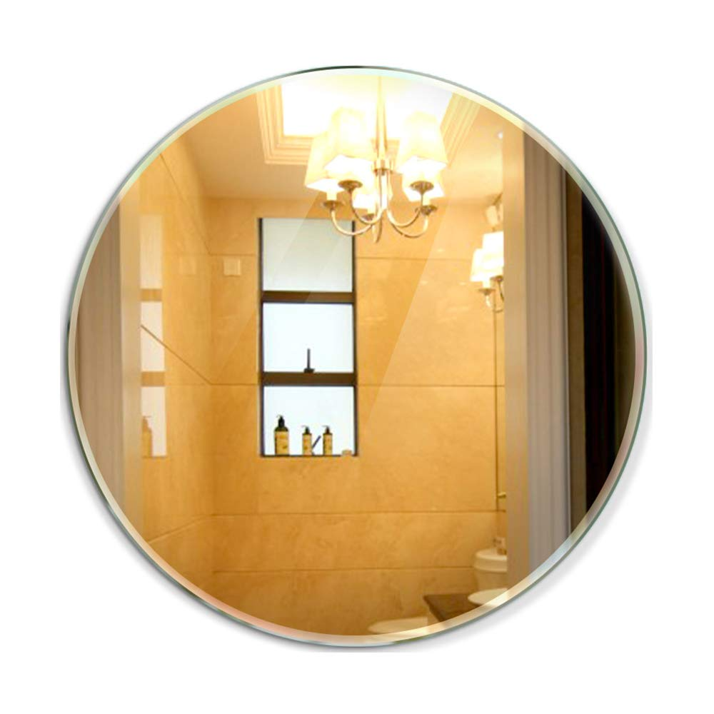 HGXC Bathroom Mirror, Round Wall Mounted Mirror Dressing Table, Bathroom Mirror Thickness -5mm Mirror (Size : 58cm)