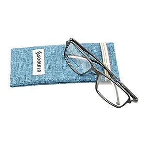 SOOLALA Unisex Designer Square TR90 Full Frame Magnifying Reading Glasses, MatteBlack, +1.75D