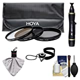 Hoya 77mm 3-Piece Digital Filter Set (HMC UV Ultraviolet, Circular Polarizer & ND8 Neutral Density) with Case + Cleaning Kit for Canon, Nikon, Sony, Olympus & Pentax Lenses