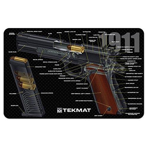 1911 Handgun Pistol Gun Cleaning Mat - Brand New Cut Away design