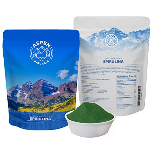 Spirulina Powder California Grown - 12 OZ Non GMO, Natural, Energy Booster, Nutrient Vegan Protein Supplement - Detoxifying Superfood - Sourced only from Algae plant grown in the USA