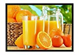 Oranges Black Wooden Frame Art Print Canvas Poster, Home Wall Decor(14x20x1.4 inch)
