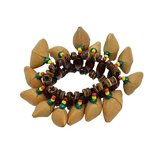 Simple Ethnic Costumes (JYFY African Tribal Style Bracelet Nut Handbell Djembe Performance Percussion Accessories)