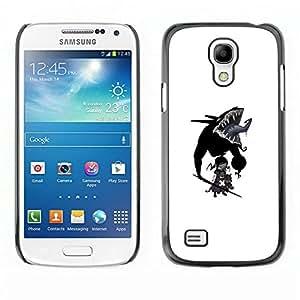 // PHONE CASE GIFT // Duro Estuche protector PC Cáscara Plástico Carcasa Funda Hard Protective Case for Samsung Galaxy S4 Mini i9190 / Goth bebé /
