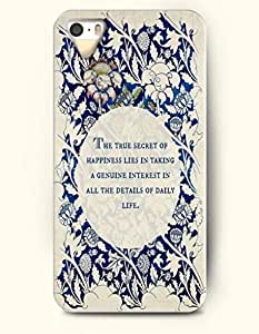 iPhone 5 5S Hard Case (iPhone 5C Excluded) **NEW** Case with Design The True Secret Of Happiness Lies In Taking...