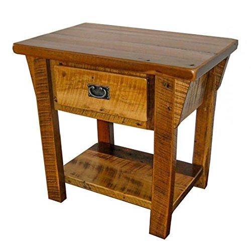 Amazon.com: Granero rústico madera 1 cajón mesa auxiliar ...