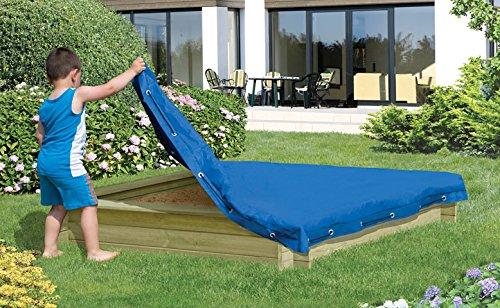 sandkastenabdeckung 150x 150cm, bleue plane pour Sable plane Couverture de protection de jardin Welt Verrou Berger Gartenwelt Riegelsberger