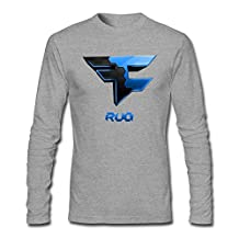 Kingdiny Men's FaZe Rug Logo Long Sleeve T Shirt