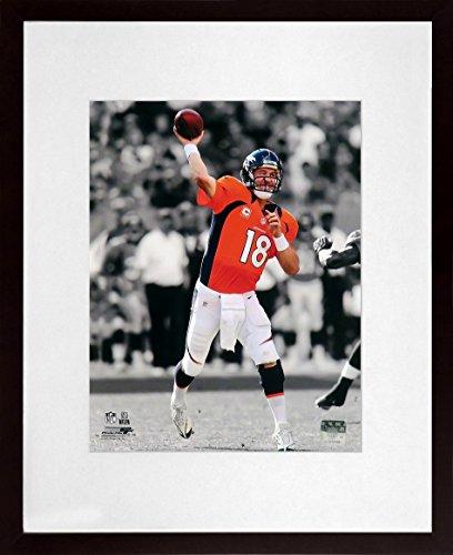 Denver Broncos Peyton Manning Spotlight 8x10 Photograph (SGA UnderFifty Series) Framed