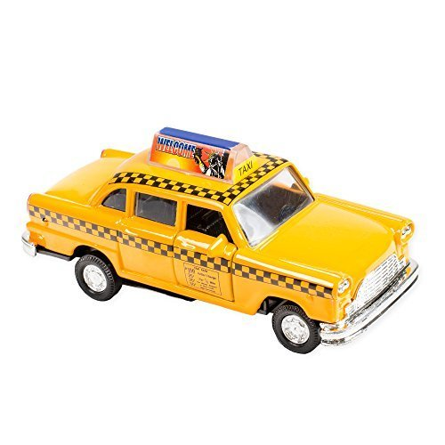 Diecast Car Taxi (Classic Checkered NY City Taxi Cab Die Cast 4.75 Inch Toy Car)