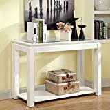 247SHOPATHOME IDF-4238WH-S, Sofa Table, White