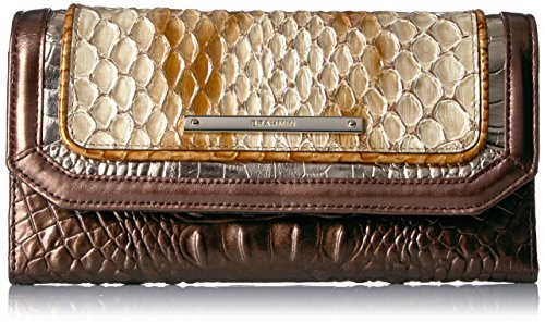Brahmin Women's Soft Wallet Checkbook Cover, Honey, One Size by Brahmin