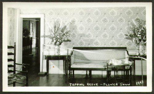 Tea set Tapping Reeve Flower Show CT photo 1947