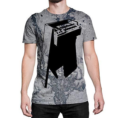 Idakoos Instruments Mellotron 3D - Men T-Shirt Polyester L ()