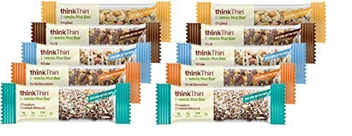 Think Thin Protein Nut Bar, New Flavors Variety (Pack of 10)