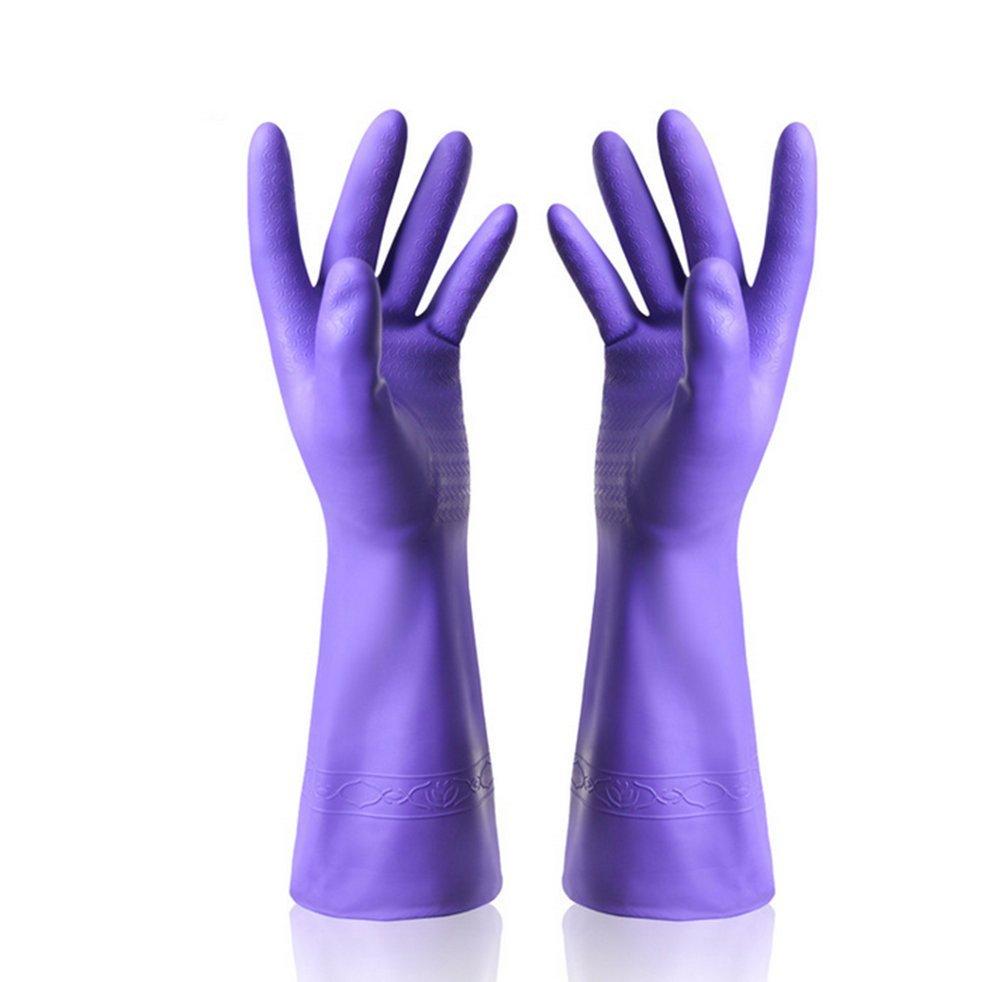 Distinct 1ペアラバーラテックスDish洗濯クリーニング手袋家庭用キッチングローブ(パープル)   B01GKO4H0I