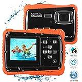 Bybrutek Kids Camera, 12MP HD Children Underwater 3M Waterproof Action Camera Camcorder, 2-Inch LCD, 4x Digital Zoom, 5 MP CMOS Digital Camera (Black)