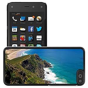 Etui Housse Coque de Protection Cover Rigide pour // M00421621 Costa del agua del océano de arena Sea // Amazon Fire Phone