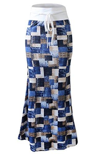 Floral Jupe De Serrage Blue Taille Yacun des Plage Femmes Jupes D't Maxi Haute qwf4HzZS