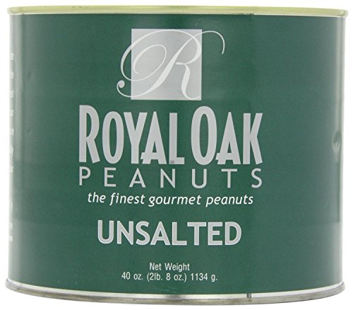 Royal Oak Gourmet Jumbo Unsalted Virginia Peanuts, 40-Ounce Tin, pack of 4