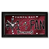 Tampa Bay Buccaneers NFL Football #1 Fan Team Logo License Plate made Clock