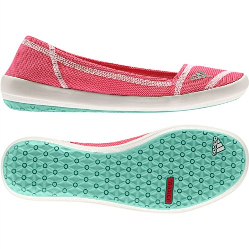 adidas Outdoor Damen Slip-On Slim Water Shoe Bahia Pink / Vivid Berry / Kreide