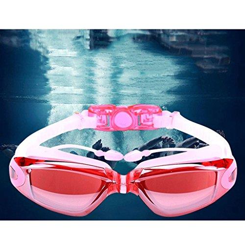 los de natación Impermeables Nada Nada los Anteojos Pieza antibalas de Paquete Que LCSHAN Gafas del natación la de Que Sola Color Adultos de Caja de de Pink Plata La una Hombres Hombres Casquillo el wO1nEv