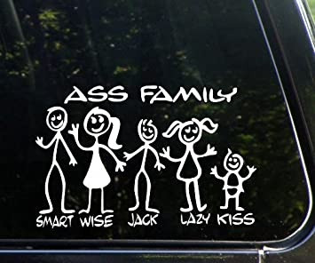 Excellent idea The ass family bumper sticker very