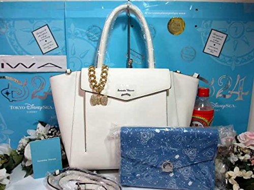 サマンサタバサ ディズニー限定 シンデレラ ポーチ付 A4 肩掛 2way トート バッグ 鞄 白の商品画像