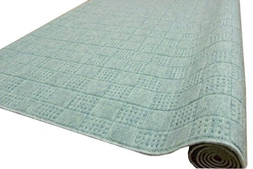 カーペット 10畳 絨毯 防音 撥水 352x440cm チェックアイ LL-35 グリーン色 10畳 (352×440cm) グリーン B01CLG1TR8