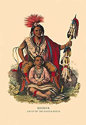 "Keokuk (Chief of the Sacs & Foxes)Fine art canvas print (20"""" x 30"""")"